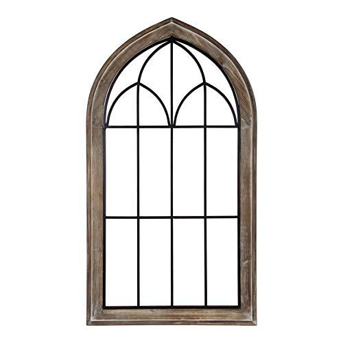 Kate and Laurel Rennell Wood and Metal Rustic Window Pane Arch Wall Decor