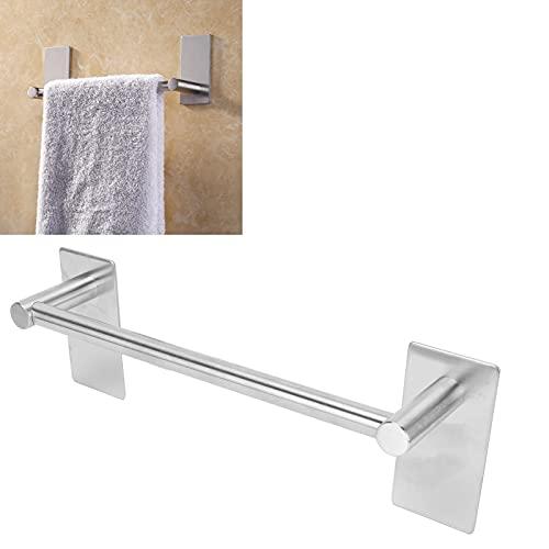 Barra de toalla, estante de toalla sin clavos con base para baño para cocina