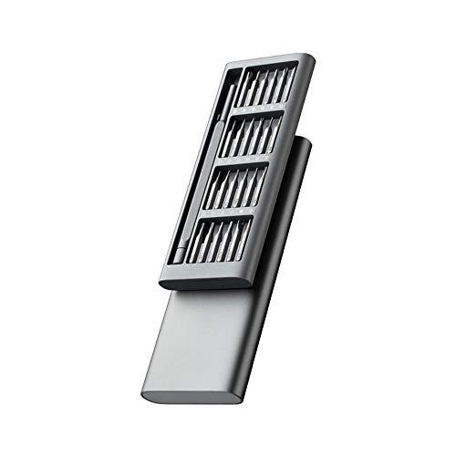 WZHC Destornillador Kit 24 Precision bits magnéticos DIY Destornillador Desmontable Conjunto Mini Caja de Herramientas Reparación del teléfono (Size : 16.8 * 6.7 * 1.7cm)