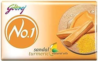 Godrej No.1 Bathing Soap – Sandal & Turmeric, 150g (Pack of 9)