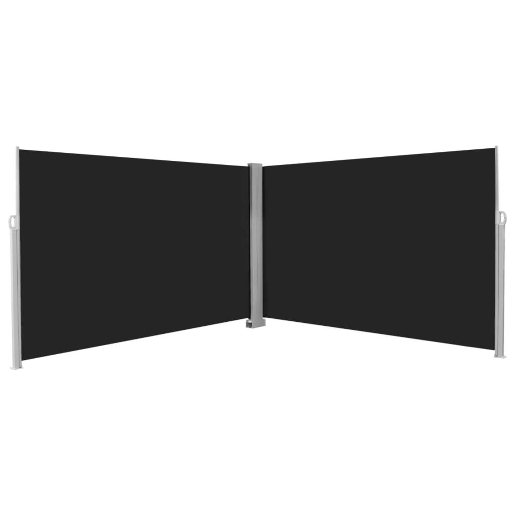 Festnight Retractable Side Awning Patio Screen Privacy Divider 31.5x118.1 Gray