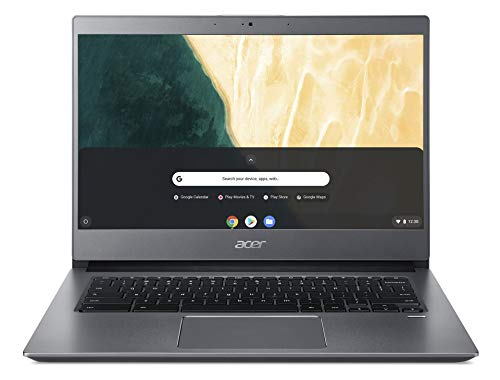 Acer Chromebook 714 Notebook (14 Zoll Full-HD IPS MultiTouch matt, Aluminium Unibody, 18mm flach, extrem lange Akkulaufzeit, schnelles WLAN, beleuchtete Tastatur, Fingerprintsensor, Google Chrome OS)