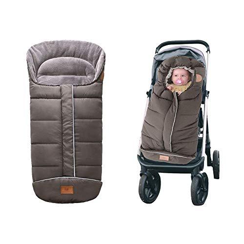 wenhe - Saco de dormir universal para cochecito de bebé, saco para dormir para bebé, manta de pie caliente de invierno, para bebé, terciopelo grueso, saco