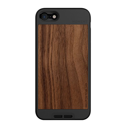 Moment Protective iPhone 7/8 Case - Durable Wrist Strap Friendly Case for Photography and Camera Lovers (Walnut Wood)