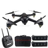 Drone 8.0MP, Motore brushless GPS 5G WiFi, 1080P 160deg;Drone remoto grandangolare HD FPV, seguimi Via/Ritorno con Un Solo Pulsante, 2 batterie Adatte per Principianti Adulti