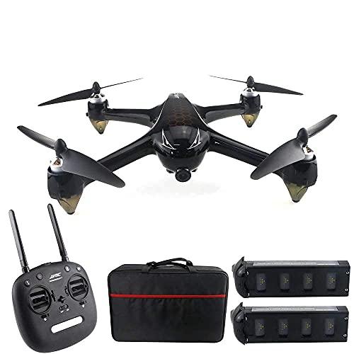 PAKUES-QO Drone 8.0Mp, Motore Brushless GPS 5G WiFi, 1080P 160Deg;Drone Remoto Grandangolare HD FPV, Seguimi Via/Ritorno con Un Solo Pulsante, 2 Batterie Adatte per Principianti Adulti