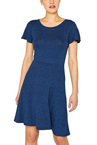 ESPRIT Damen 049EE1E001 Kleid, Blau (Bright Blue 410), Small (Herstellergröße: S)