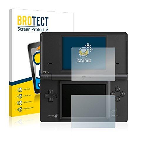 BROTECT 2X Entspiegelungs-Schutzfolie kompatibel mit Nintendo DSi Displayschutz-Folie Matt, Anti-Reflex, Anti-Fingerprint