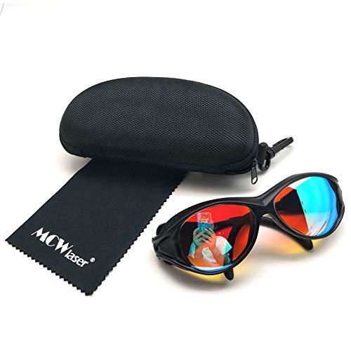 MCWlaser 2 gafas de protección láser de CO2 de seguridad 1064 nm y 532 nm gafas láser para YAG fibra láser marcado corte interior tallado depilación eliminación de tatuajes EP-27