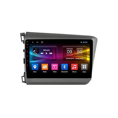 TypeBuilt Android Autoradio 9' Pantalla Tactil para Coche HD Radio De Coche Bluetooth SWC per Honda Civic 9 FB FK FD 2011-2015 Coche Audio FM/Am/RDS Radio Video Player Bluetooth Radio Pantalla,Px5