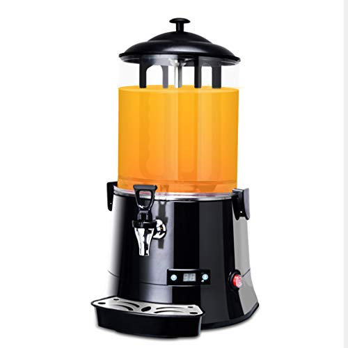 Commercial Cold and Hot Beverage Dispenser, 10L Hot Chocolate Maker Machine Hot Beverage Warmer with Drip Trays Easy to Clean