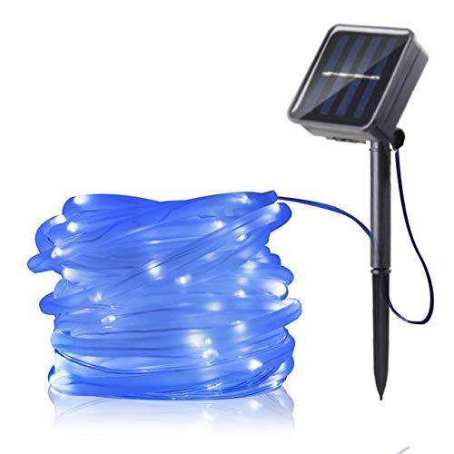 WSYYWD LED Lichterketten Weihnachtsbeleuchtung Outdoor Solar wasserdicht Seil Rohr LED Kranz...