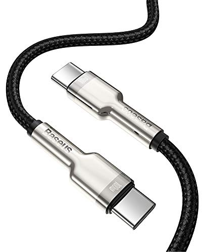 Baseus USB C Kabel, 100W 2m PD QC 4.0 Schnellladekabel USB C auf USB C Kabel, Nylon Typ C Handy Ladekabel für MacBook Pro/Air, iPad Pro 2020/2018, Laptop, Switch, Samsung S20 Huawei Mehr