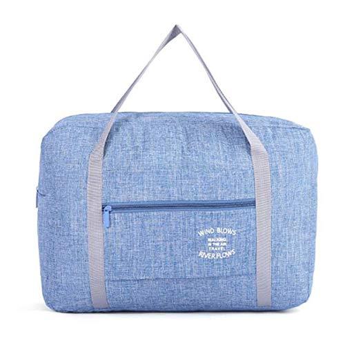 Yaootely Blue Waterproof Cosmetic Travel Bags Women Men Large Duffle Bag Travel Organizer Luggage Bags Packing Cubes Weekend Bag