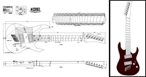 7-saitige multiscale E-Gitarre Plan–Full-Scale Print