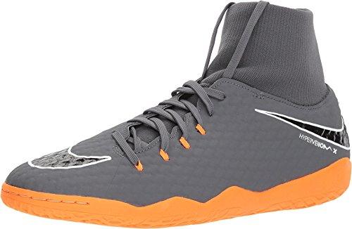 Nike Nike Herren Hypervenom PhantomX III Academy DF Fußballschuhe, Grau (Dunkelgrau/Orange Dunkelgrau/Orange), 41 EU