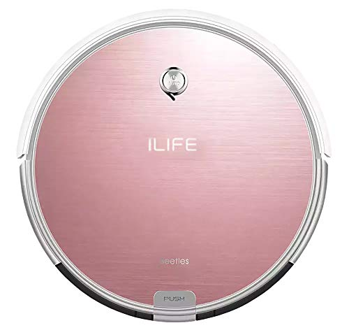 iLife X620 Smart 2-in-1 Dry & Wet Robotic Vacuum Cleaning Sweeper for Hard Floor & Thin Carpet, Remote Operation, Infrared High Suction and Smart Mopping with Water Tank for Multi-Surface Floor Dust Rose Gold