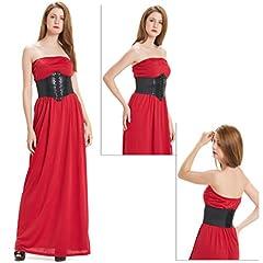 HANERDUN Lace-up Corset Elastic Retro Cinch Belt Waist Belt Four Sizes #2