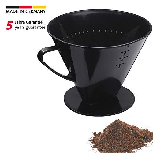 Westmark Kaffeefilter/Filterhalter, Für bis zu 6 Tassen Kaffee, Filtergröße 6, Kunststoff, Six, Schwarz, 24462261