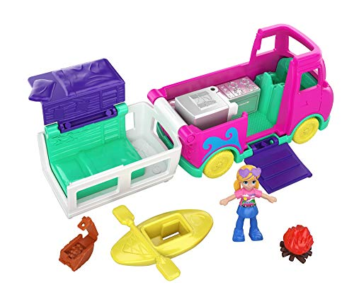 Polly Pocket Autocaravana transformable con accesorios (Mattel GKL49)