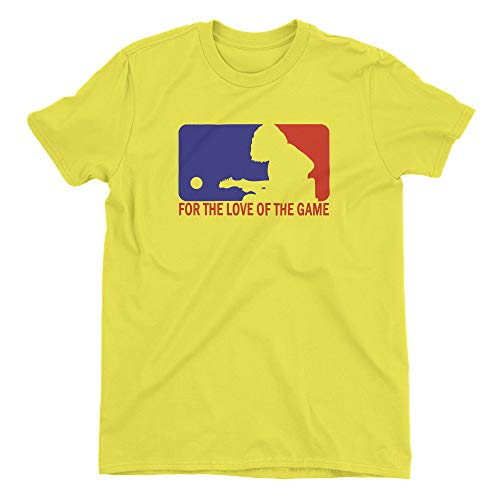 ZJ Designs Mikey Houser Tribute for The Love of The Game T-Shirt WSMFP (Neon Yellow, L)