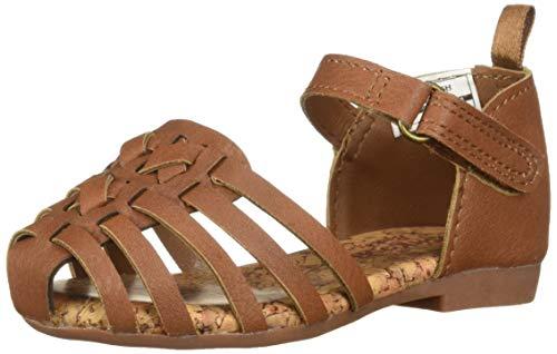 OshKosh B'Gosh Halle Girl's Strappy Sandal, Brown, 12 M US Toddler