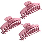 3 Stück Große Haarklammer,Klaue Clips,Haarspangen,haarspangen mädchen,Unregelmäßige,Rutschfeste Haarnadel,Kiefer kKlammer,Haarspangen,Metall Haarnadel,Haarklammern für Frauen (E)