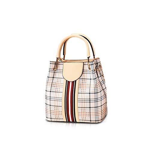 NICOLE&DORIS Damen Mode Handtaschen Eimer Taschen Top Griff Trend Umhängetasche Leder Umhängetasche hell Gold