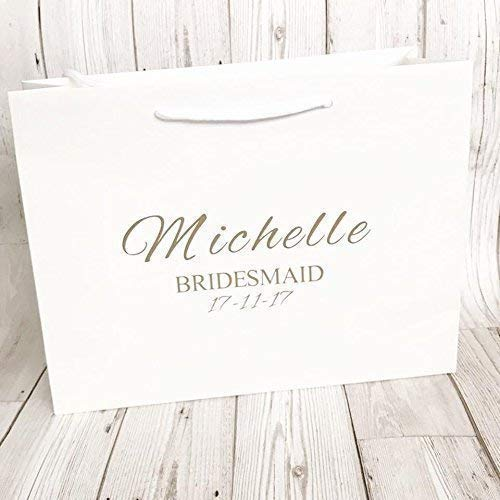 804119a17be Personalised Gift Bag Bridesmaid Wedding Party Black Or White Box