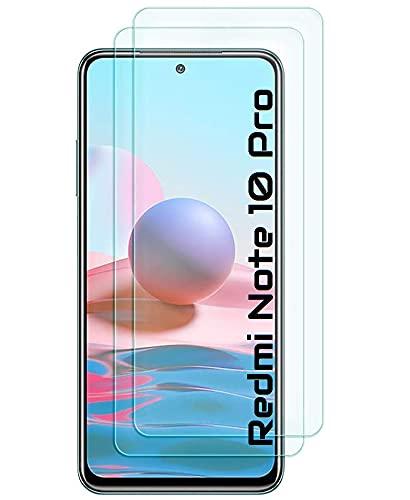 Cracksin [2 Stück] Panzerfolie kompatibel mit Xiaomi Redmi Note 10 Pro Bildschirmschutz Panzerglas Schutzglas Echt Hartglas Screen Protector 9H Tempered Glass