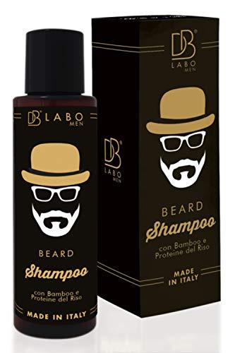 DBLabo Shampoo per la Cura della Barba - Made In Italy - Antiforfora, Delicato, Nutriente, Rigenerante - Trattamento da Uomo x Peli Morbidi e Setosi