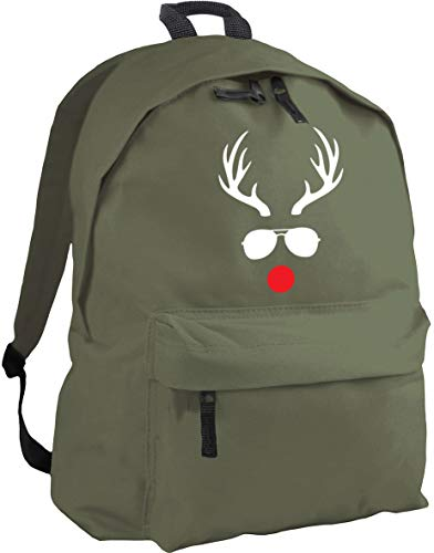 HippoWarehouse Reindeer in Sunglasses Backpack ruck Sack Dimensions: 31 x 42 x 21 cm Capacity: 18 litres