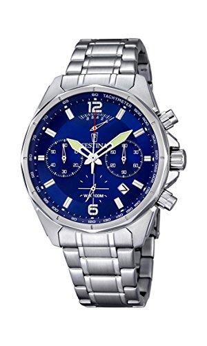Festina, F6835/3, Orologio da uomo, al quarzo, con cronografo, cinturino in acciaio INOX, colore del display: blu