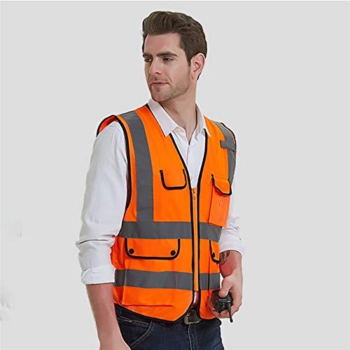 Yunding Alta visibilidad chaleco reflectante de seguridad Ejecutivo chaqueta,perfecto estado de funcionamiento Para la noche,Control de Tráfico,Construcción,ciclismo,equitación Motorcylcle Etc(paquete
