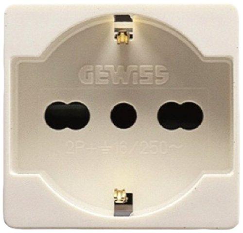 Gewiss 80020S GW20246 System Presa Schuko, 10/16 A, Bianco