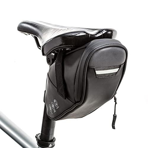 Bolsa de sillín de Bicicleta Bolsa de Bicicleta Bolsa de Asiento de Bicicleta, 1.5L Bolsa de Cuadro Impermeable Bolsa de Herramientas Paquete de cuña con Elementos Reflectantes para Bicicleta