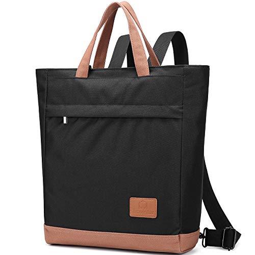 Travistar Rucksack Damen Multifunktion 3 In 1 Handtasche Umhängetasche,Oxford Wasserdicht Vintage Großer Rucksack Einkaufstasche Für Die Arbeit Schule Reisen Lässig (Schwarz)