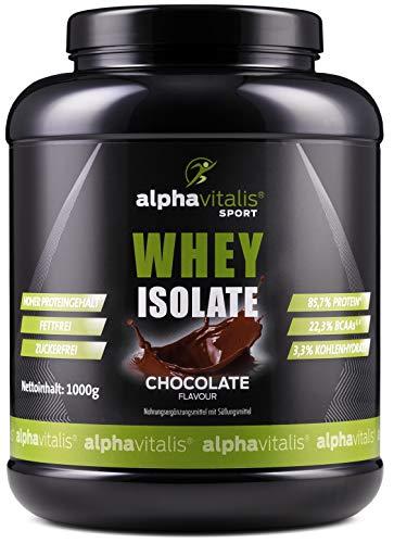 Whey Protein Isolate Schoko - H²O-optimiert - 85,7% Protein! - Zuckerfrei - Fettfrei - 1000g - WPI ohne Aspartam oder Cyclamat