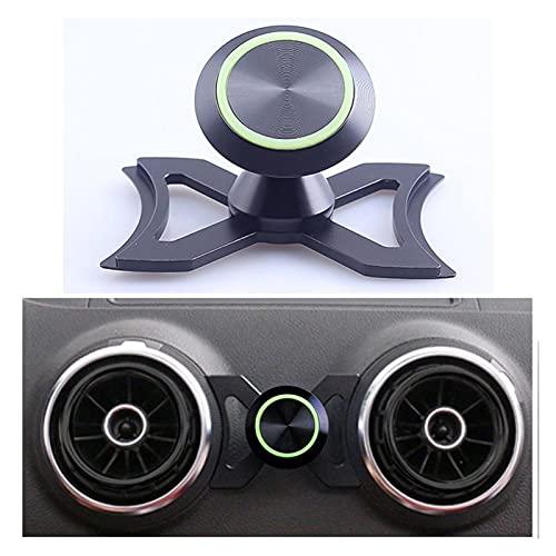 ONETOTOP Titular del teléfono con Titular del teléfono con Aire de ventilación de Aire Monte Luminous 360 ° Giratorio Giratorio Cuna para Accesorios para automóviles (Color : Black)