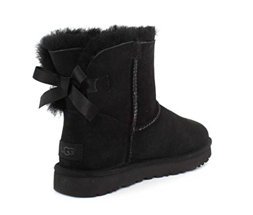 UGG Damen Mini Bailey Bow Ii Schlupfstiefel, Schwarz (Black), 39 EU (6 UK)