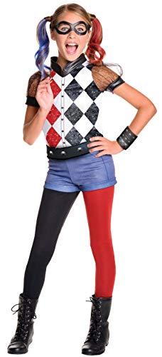 Rubie's 620712 - DC Super Hero Girls Harley Quinn Deluxe, Traje de niño, M (5-7 años)