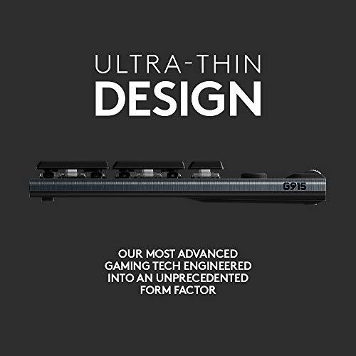 Logitech G915 Teclado mecánico inalámbrico para juegos (Clicky), negro