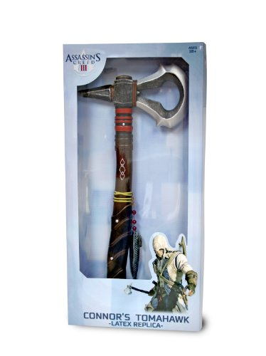 """*Finish off your Assassin's Creed costume with this handsome weapon *Silver colored foam hatchet blade shines like justice *Fiberglass insert gives it a hefty feel in your hand *Perfect for cosplay *Dimensions: approx. 19.68"""" long A true warrior's we..."""