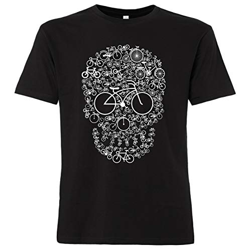 ShirtWorld - fiets doodshoofd - heren T-shirt