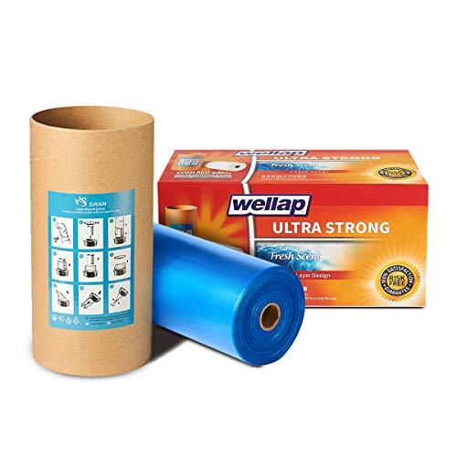 BLU Ricarica mangiapannolini compatibile con Tomme Tippe Tec e Twist & Click, Confezione da 250m (tubo + 250m)