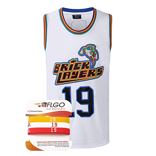 AFLGO Aaliyah #19 Brick Layers 1996 MTV Rock N Jock XS-XXXL Basketball Jersey - White, Large