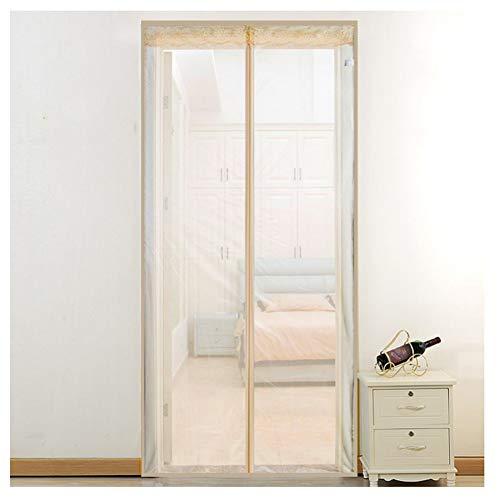 BORUO Magnet Fliegengitter Tür Insektenschutz Der Magnetvorhang ist Ideal für die Balkontür, Kellertür Und Terrassentür, Kinderleichte Klebemontage Ohne Bohren,White,80 * 200CM