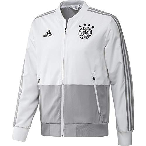 adidas Herren DFB PRE JKT Jacke, White/Grey Two f17, XS