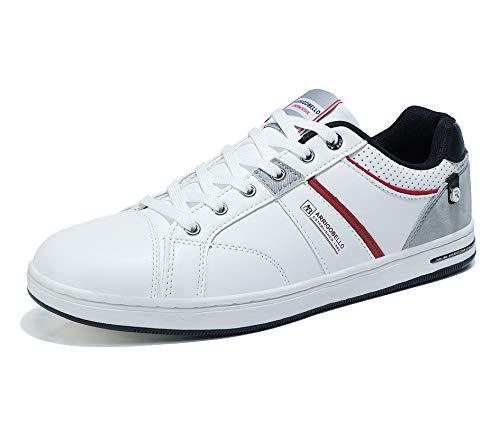 ARRIGO BELLO Zapatos Hombre Vestir Casual Deportivas Zapatillas Sneakers Caminar Correr Deportivas Gimnasio Moda cómodo Viajar Talla 41-46 (Blanco, Numeric_42)