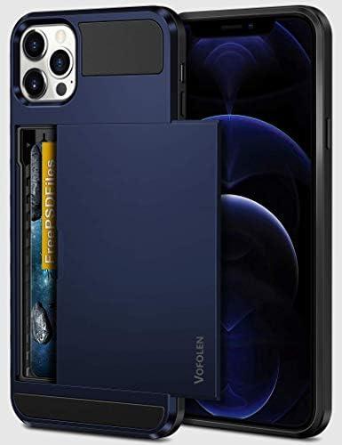 Vofolen Compatible with iPhone 12 Pro Max Case 5G Wallet Cover Credit Card Holder Slot Sliding product image